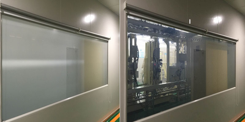 switchable privacy glass in dust-free factory