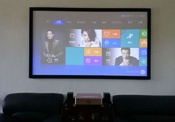 switchable glass used in rear projector screen