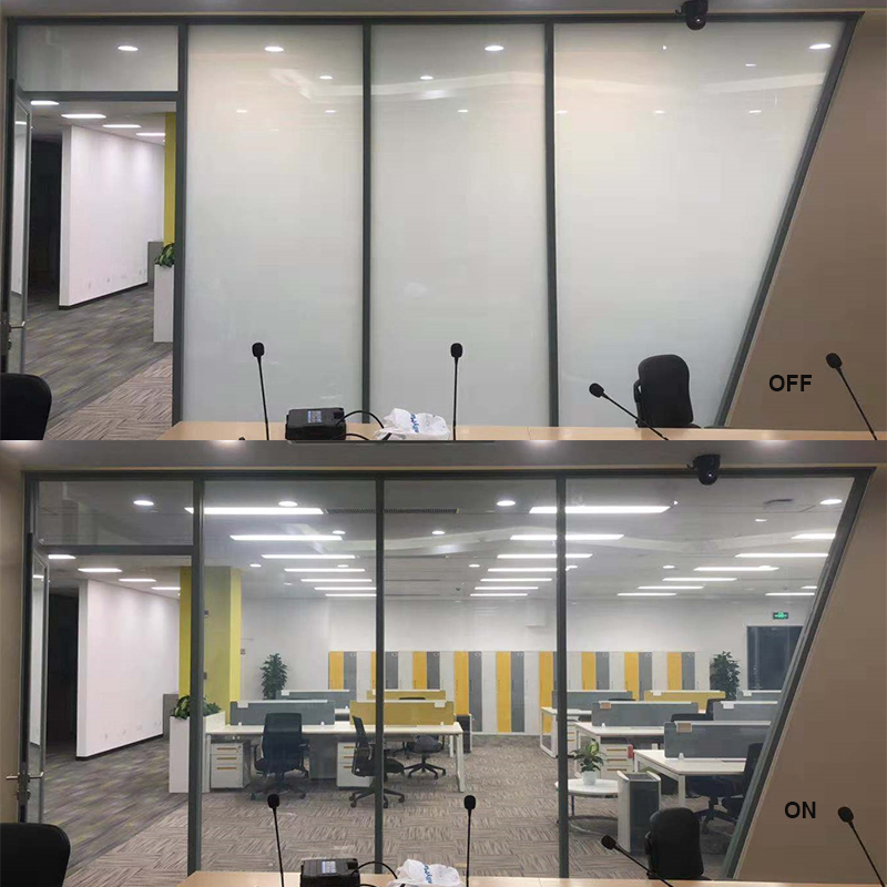 commercial smart window film in office